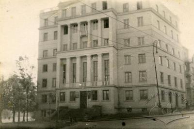 """""""Energozbut"""" building (""""Lvivnergo"""") at the crossroads of Instytutska (Sventsitskoho) and Ivana franka streets"""