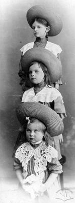 Triple children portrait