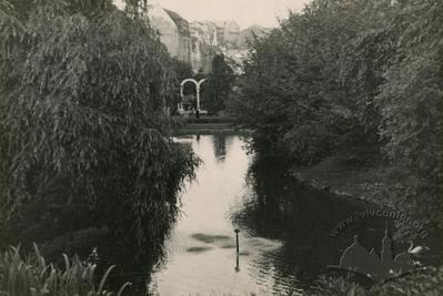 Pond in Stryiskyi park