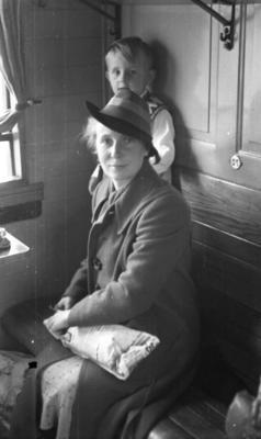 In a train compartment