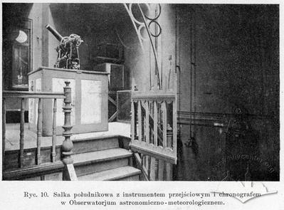 Meridian hall with tools and chronograph in the Astronomical-meteorological observatory