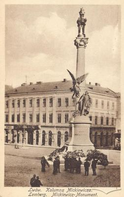 Frontal View of the Adam Mickiewicz Monument
