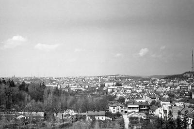 Lychakiv cemetery and city view