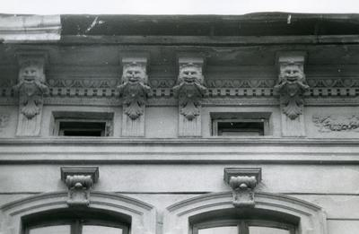 Decor of the building, mascarons - Bandery Street