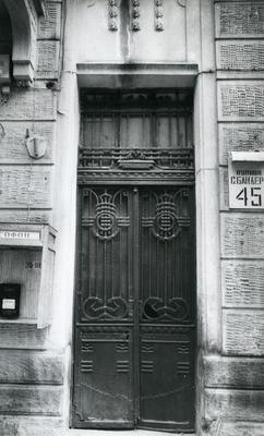 Entrance to the building at 55 Bandery Street