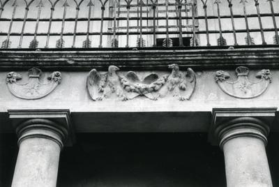 Decor of the building at Bandery Street