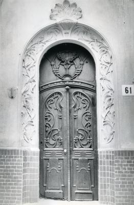Entrance to the building at 61 Bandery Street