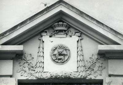 Decor of the main entrance of the Lviv Academic Gymnasium - 14 Bandery Street
