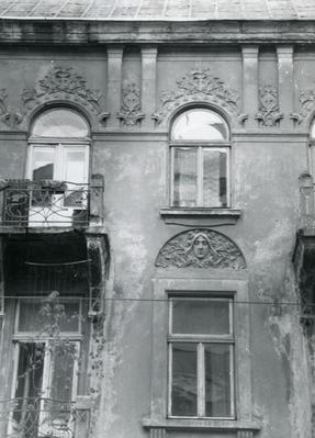 The fragment of the facade at 61 Bandery Street