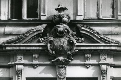 The gable above the main entrance at 63 Franka St.