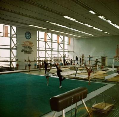 """Interior of """"Labor Reserves"""" Sports Palace"""