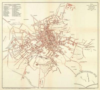 Map of the Royal Capital City of Lviv