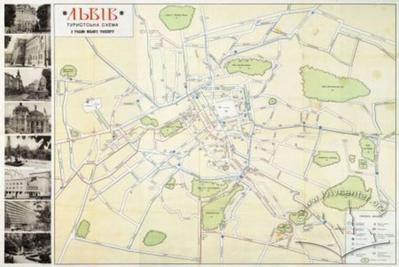 Lviv. Scheme of the city