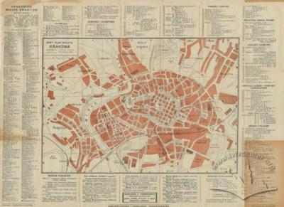 The Newest Map of the City of Krakow