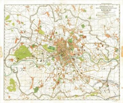 Official Map of the Capital City of Krakow