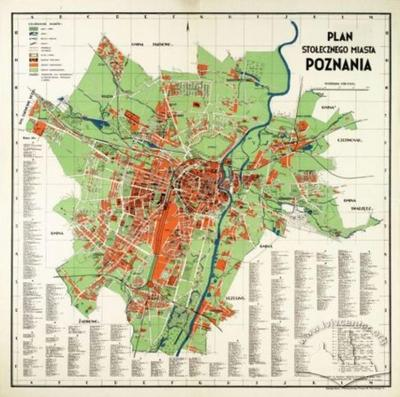 Map of the Capital City of Poznan