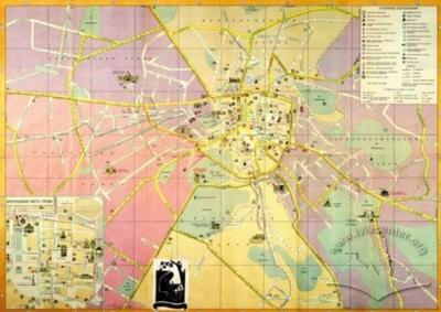 Lviv. Tourist map