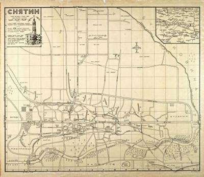 Sniatyn. Street map from 1939