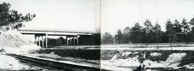 Railway nearby the city
