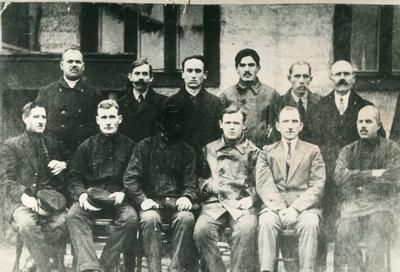 Workers of the Lower Dnieper Pipe Rolling Company