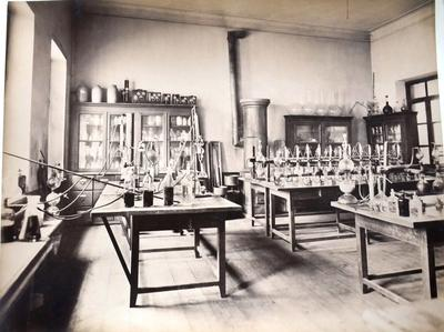 Interior of chemical laboratory
