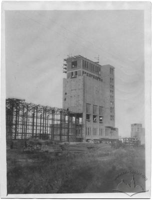 Construction of the coke workshop