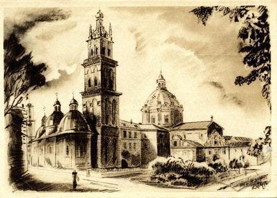 Pidvallia, Uspenska church, Dominican church and the old arsenal