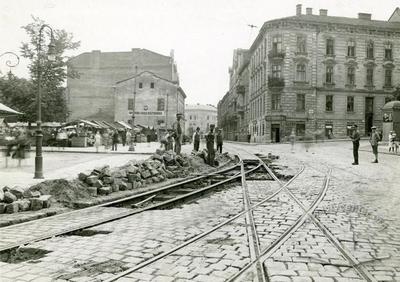 Roadwork on St. Sofia square