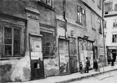 Billboard on the old Lviv building