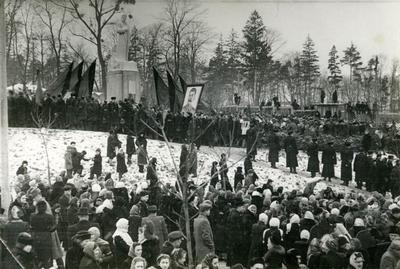 Demonstration on the occasion of J. Stalin death