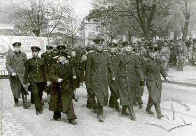 1st May demonstration on Svoboda avenue