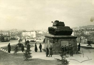 Monument to tank men-heroes on Lychakivska street