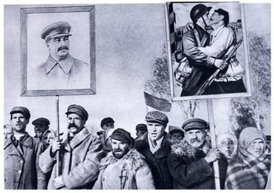 Manifestation with a portrait of Stalin