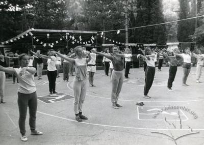 """Заняття оздоровчою гімнастикою в спортивно-оздоровчому таборі """"Політехнік"""""""