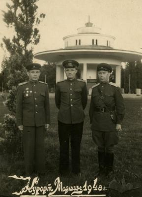 Officers of the Soviet Army in Morshyn
