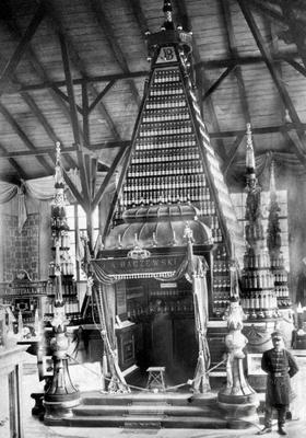 Загальна Крайова виставка 1894 р. Експозиція горілчаної фірми Бачевського.