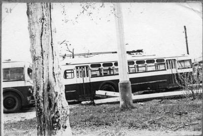 Trolleybuses in depot
