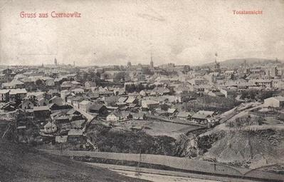 Panoramic View of Older Parts of the City