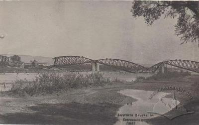 View of destroyed Railway Bridge