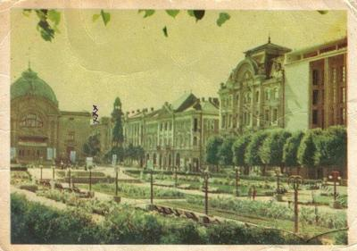 Theatre Square after the Second World War