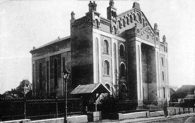Old synagogue, built in 1842-1865, the biggest synagogue in Galicia