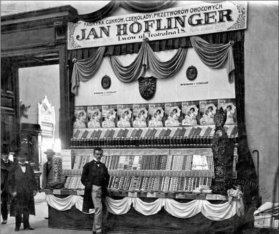 Display of Jan Höflinger's confectionary factory at Country Goods Fair in Palace of Arts