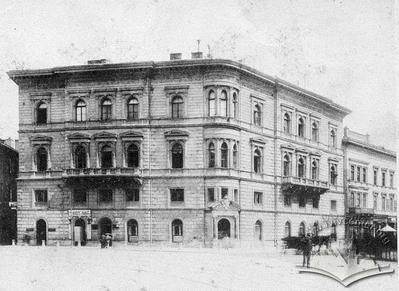 Building at the corner of Halytska square, 15 and Akademichna street 1