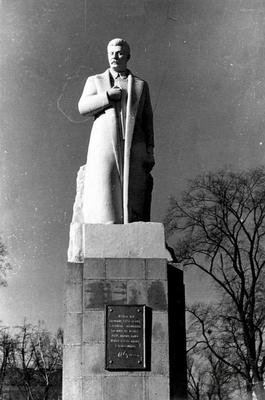 The monument to Stalin in the Bohdan Khmelnytsky Culture and Recreation Park