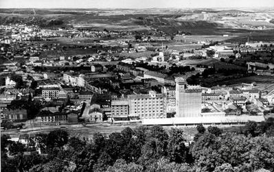 General view of Pidzamche and B. Khmelnytskoho St.