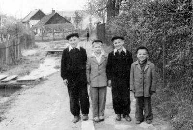 "Pidholosko. Strumok (""Creek"") St., early 1960s"