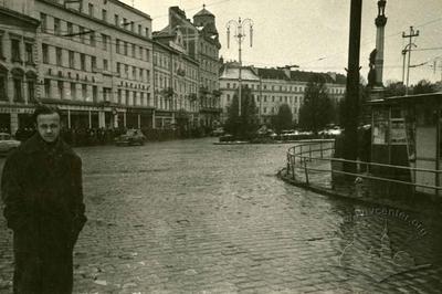 Cobblestones in Mitskevycha Square