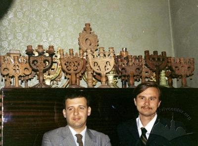 Painter Bohdan Soroka and poet Ihor Kalynets