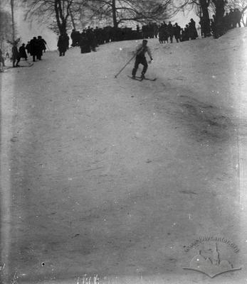 Ski competition on Kyselky Road near High Castle