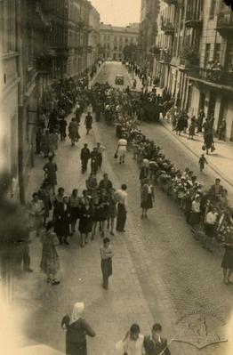 Вулиця Пекарська під час похорону